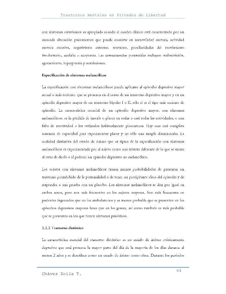 Trastornos mentales en Privados de Libertad                                                     64Chávez Zoila T.
