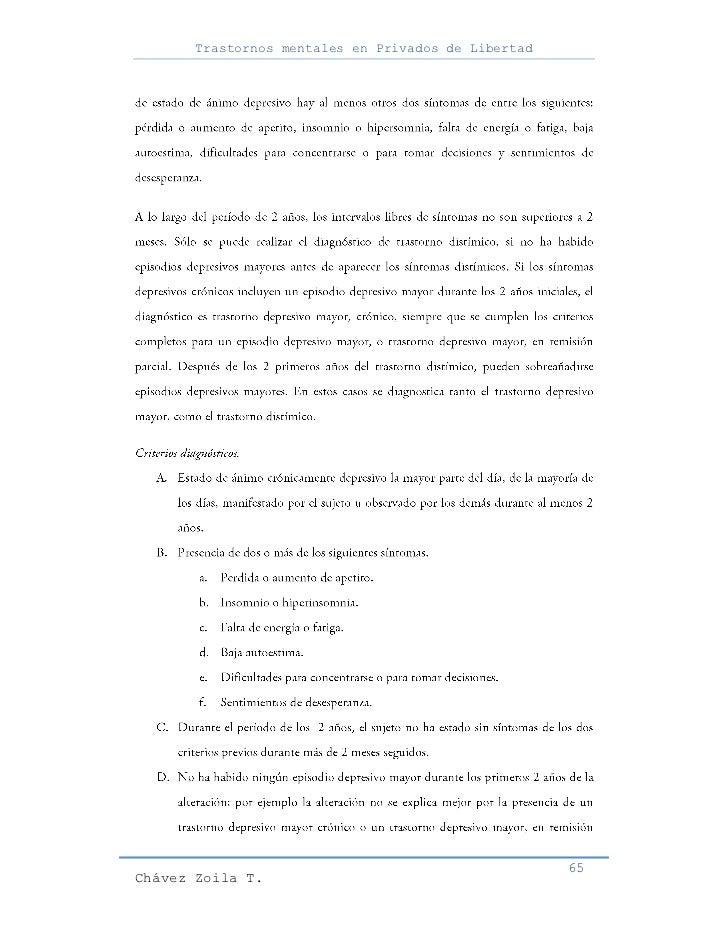 Trastornos mentales en Privados de Libertad                                                     65Chávez Zoila T.