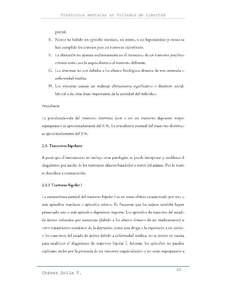 Trastornos mentales en Privados de Libertad                                                     66Chávez Zoila T.