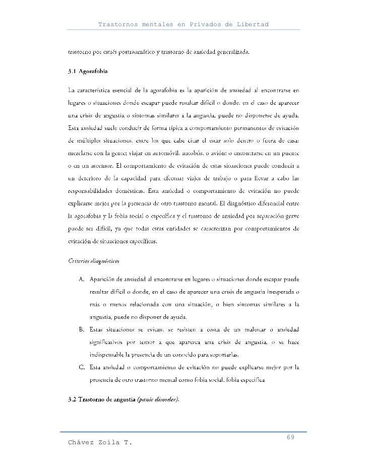 Trastornos mentales en Privados de Libertad                                                     69Chávez Zoila T.