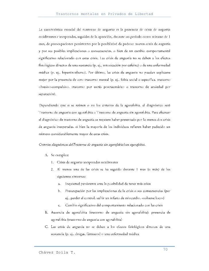 Trastornos mentales en Privados de Libertad                                                     70Chávez Zoila T.