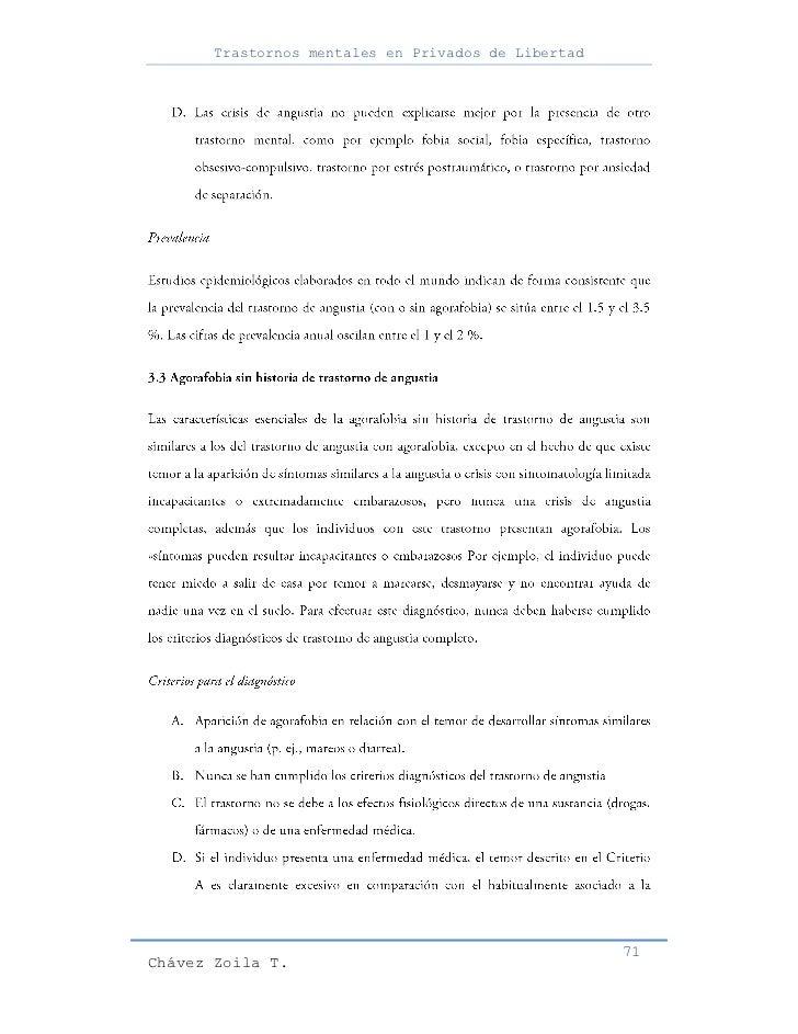 Trastornos mentales en Privados de Libertad                                                     71Chávez Zoila T.