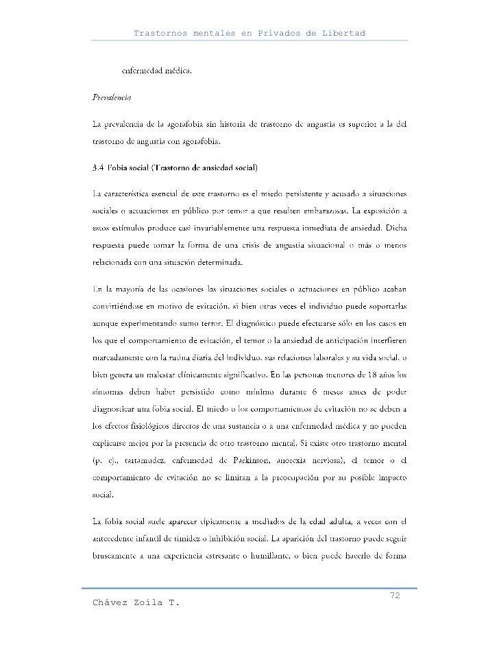 Trastornos mentales en Privados de Libertad                                                     72Chávez Zoila T.