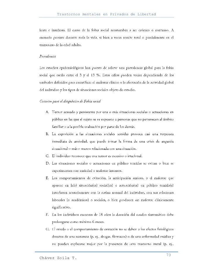Trastornos mentales en Privados de Libertad                                                     73Chávez Zoila T.