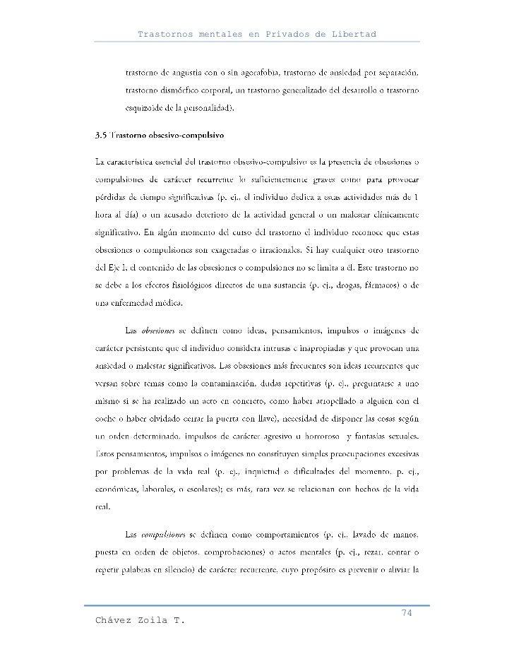 Trastornos mentales en Privados de Libertad                                                     74Chávez Zoila T.