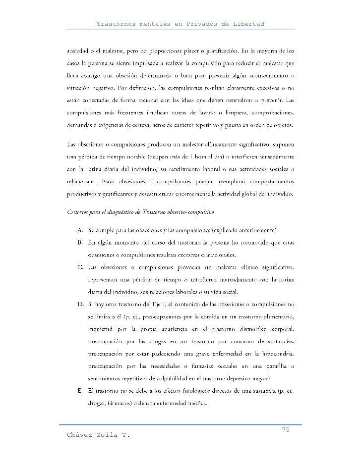Trastornos mentales en Privados de Libertad                                                     75Chávez Zoila T.