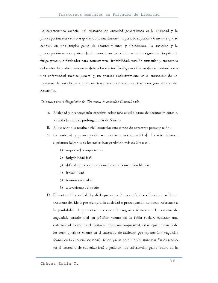 Trastornos mentales en Privados de Libertad                                                     78Chávez Zoila T.