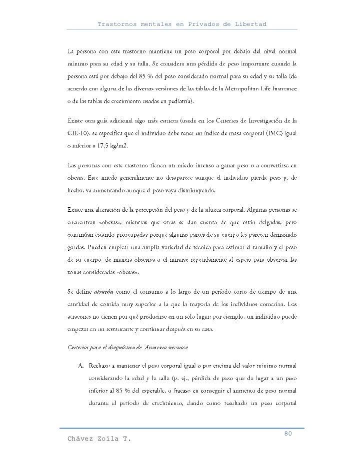 Trastornos mentales en Privados de Libertad                                                     80Chávez Zoila T.