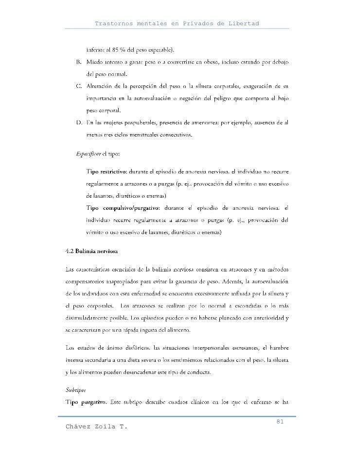 Trastornos mentales en Privados de Libertad                                                     81Chávez Zoila T.