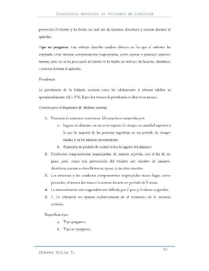 Trastornos mentales en Privados de Libertad                                                     82Chávez Zoila T.
