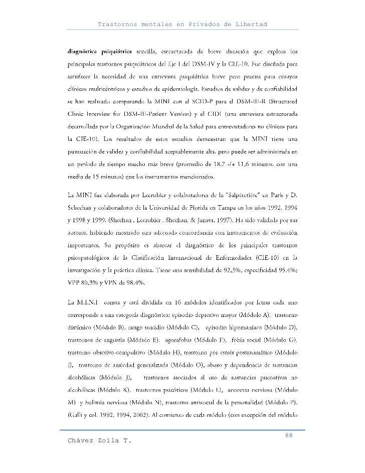 Trastornos mentales en Privados de Libertad                                                     88Chávez Zoila T.