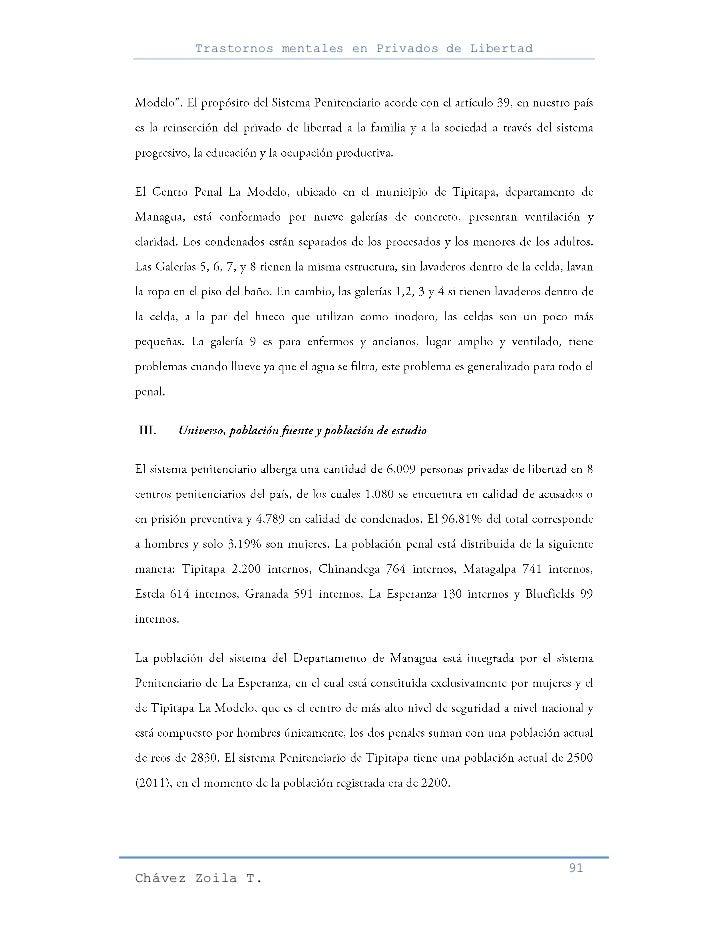 Trastornos mentales en Privados de Libertad                                                     91Chávez Zoila T.