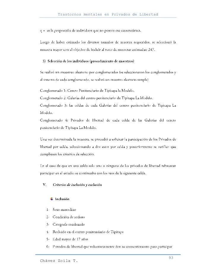 Trastornos mentales en Privados de Libertad                                                     93Chávez Zoila T.