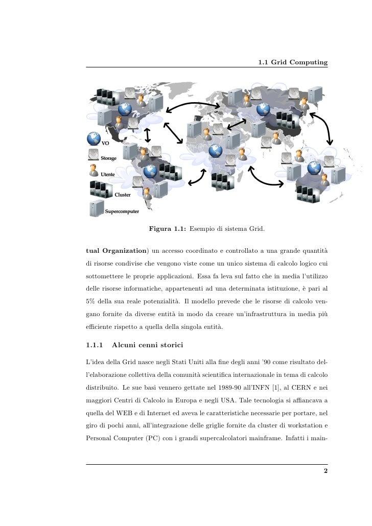1.1 Grid Computing                           Figura 1.1: Esempio di sistema Grid.   tual Organization) un accesso coordina...