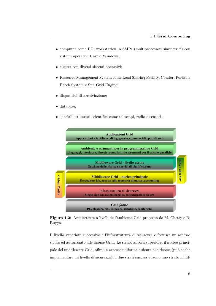 1.1 Grid Computing      • computer come PC, workstation, o SMPs (multiprocessori simmetrici) con       sistemi operativi U...