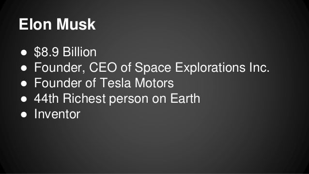 Tesla Elon Musk And His Inventions