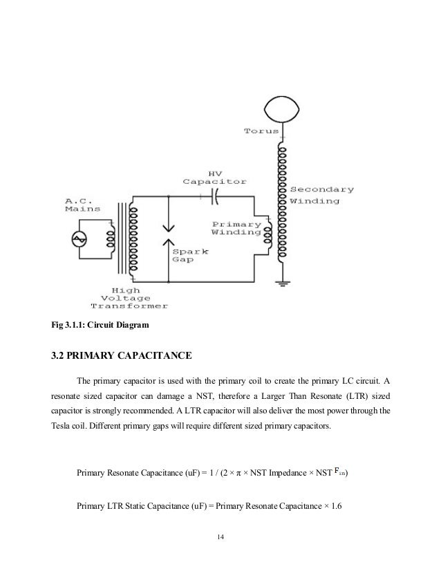 Design Of Tesla Coil Report