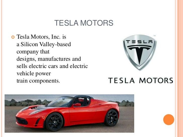 Tesla motors ppt