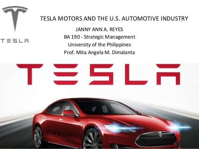 Tesla Motors The Us Car Industry