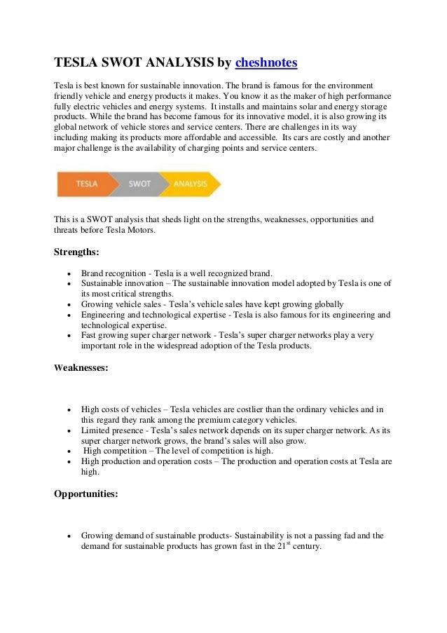 swot analysis notes