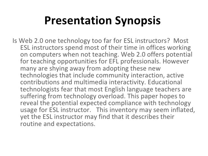 tesl thesis Examples with permission, this prospectus is posted as a sample only.