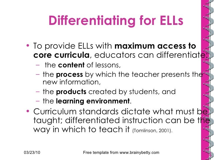 Tesol 2010 Reimagining Differentiated Instruction For Language Obje