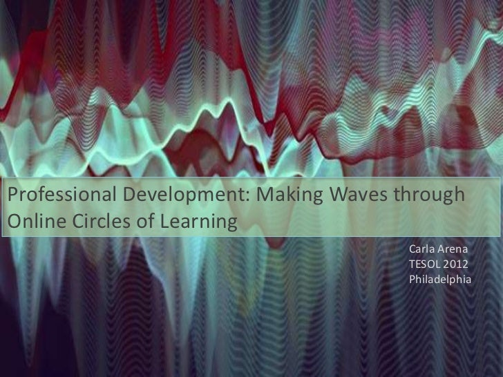Professional Development: Making Waves throughOnline Circles of Learning                                        Carla Aren...