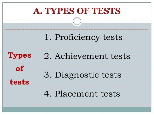 Types of tests and types of testing Slide 2