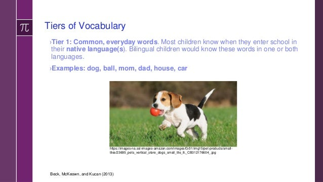 Tiers of Vocabulary ›Tier 3: Content-specific vocabulary. The bolded, defined words in textbooks and glossaries. Terminolo...