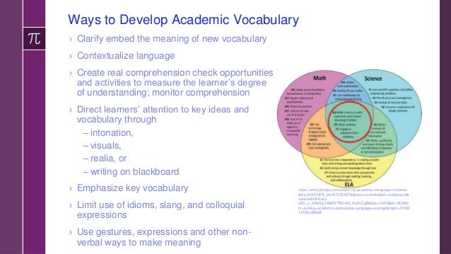 Pre-Teaching Math Vocabulary? A Unique Feature of Math Vocabulary ›The academic vocabulary of math is different from other...