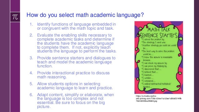 Developing Numeracy Skills › Think of learning math as a learning the language of numerary › Start with a pretest to deter...