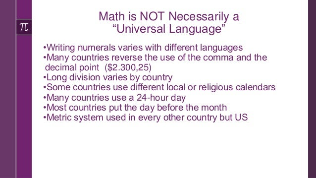 """Challenges of Teaching Math to Newcomers Cummins says that """"mathematical concepts and operations are embedded in language""""..."""
