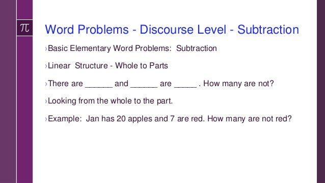 Word Problems Multiplication ›Story problems with cost (money) and number of items. ›Utilize groupings/categories (contain...