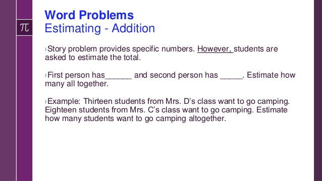Word Problems Division ›Take the whole and determine number of parts. ›There were ____ (total number of items) then determ...