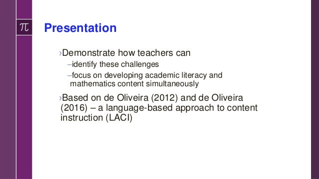 Guiding Qs to Ask Language Demands to Identify Tasks for Teachers to Perform 4. What mathematical representations and proc...