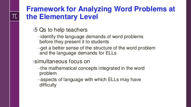 Word Problems and Key Language Challenges Word Problem 1: • Indiana Statewide Testing for Educational Progress-Plus (ISTEP...