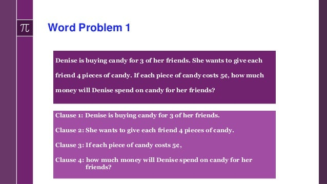 Guiding Questions Language Demands of the Word Problem 3. Which mathematical concepts are presented in the information? • ...