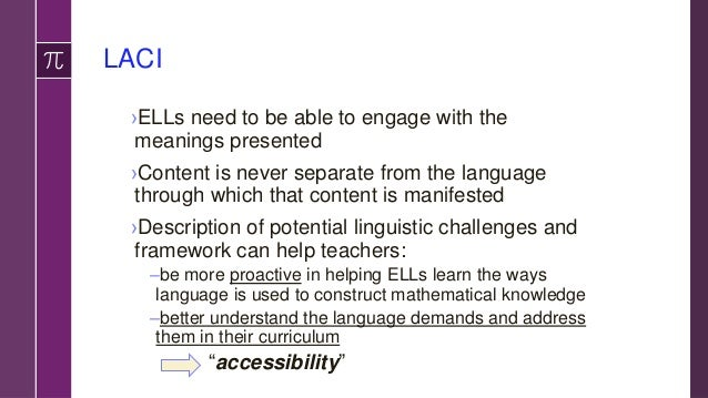 References › de Oliveira, L. C. (under contract). A language-based approach to content instruction (LACI) for English lang...