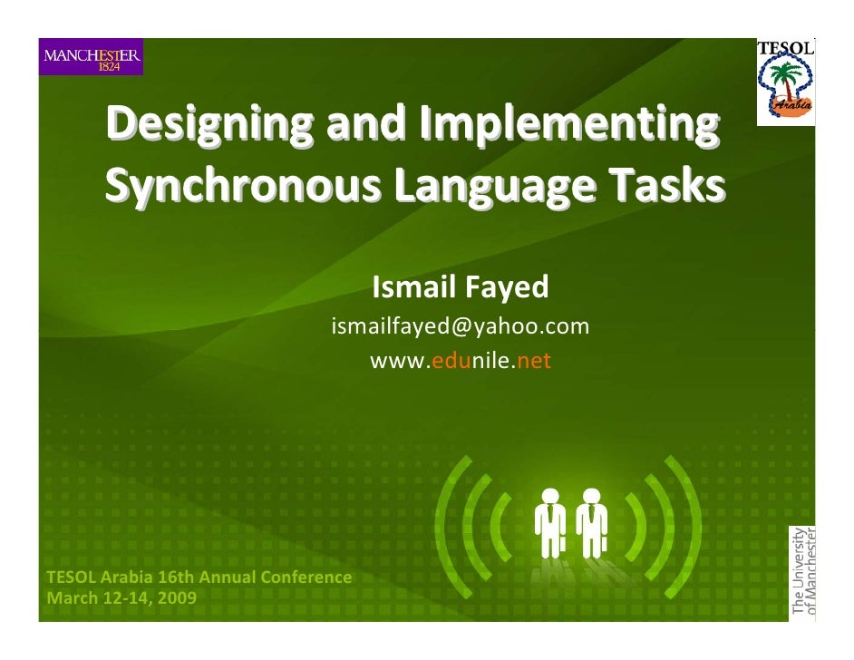 Designing and Implementing        Synchronous Language Tasks                                       Ismail Fayed           ...