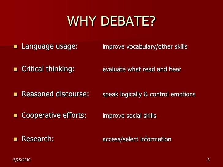 Doable Debate in the ESL/EFL Classroom