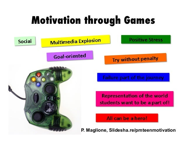 Motivation through Games  P. Maglione, Slidesha.re/pmteenmotivation