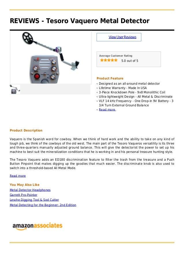 Tesoro vaquero metal detector