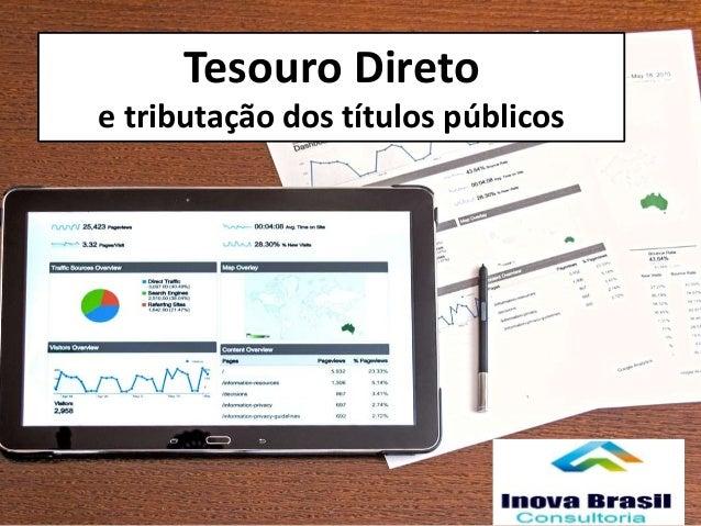 Tesouro Direto e tributação dos títulos públicos