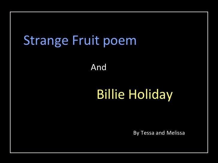 strange fruit poem what fruits are in season