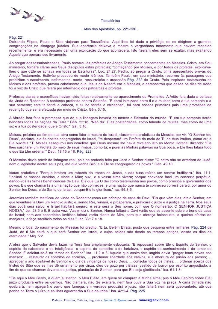 Tessalônica                                               Atos dos Apóstolos, pp. 221-230.Pág. 221Deixando Filipos, Paulo ...