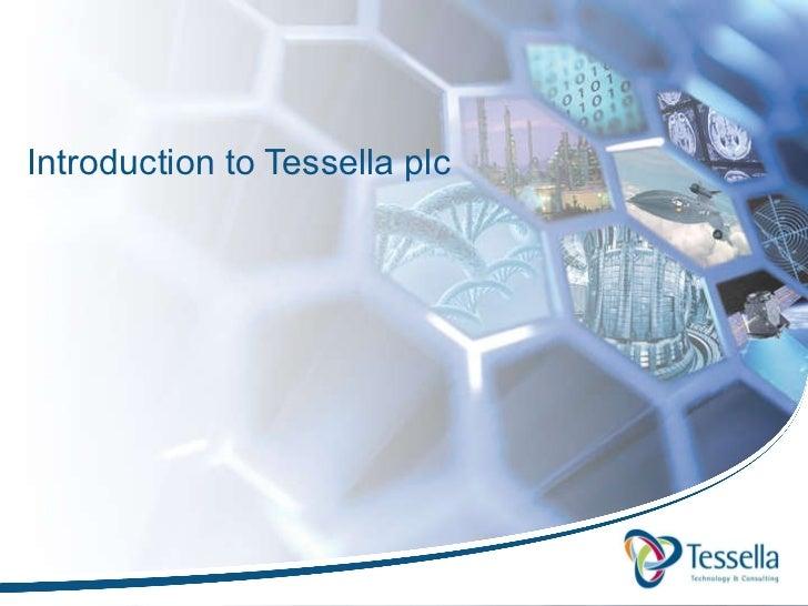 Introduction to Tessella plc
