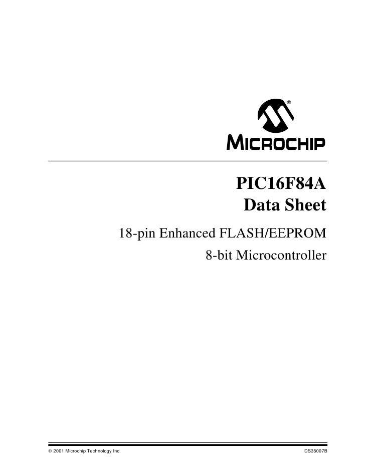 M                                               PIC16F84A                                                Data Sheet       ...