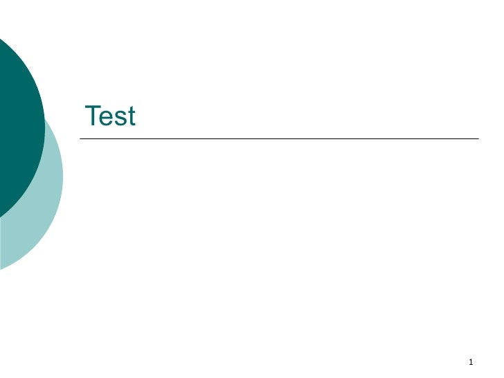 Test Slide 1