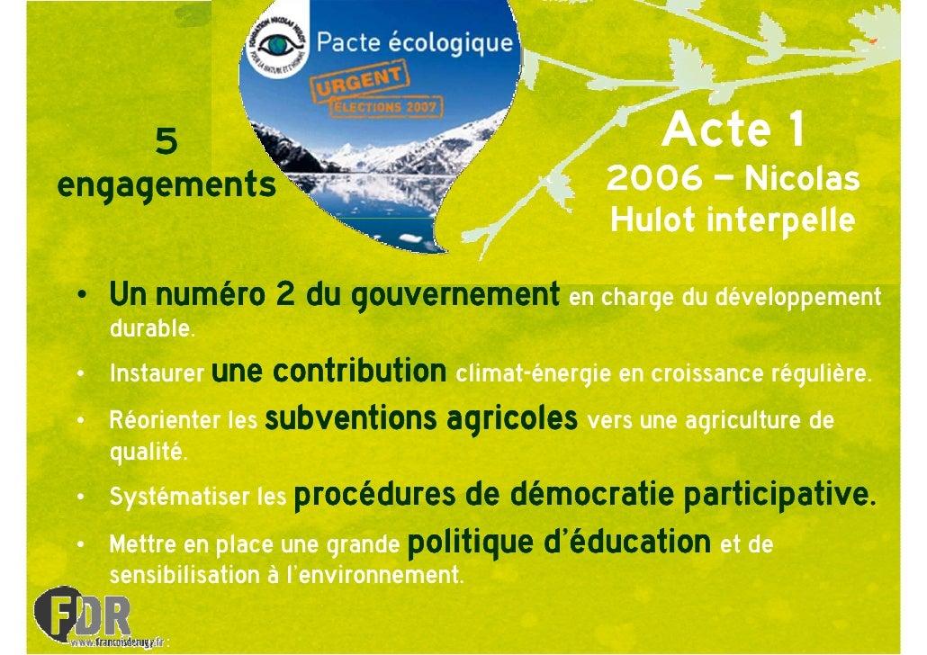 5                                               Acte 1 engagements                                     2006 – Nicolas     ...