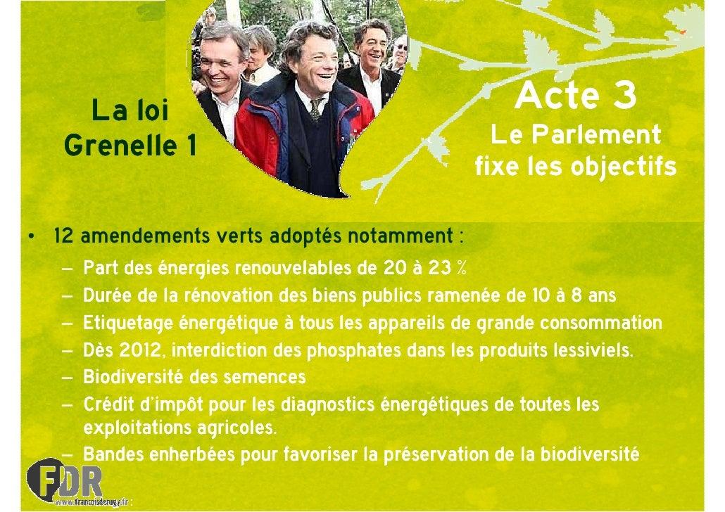 La loi                                           Acte 3    Grenelle 1                                       Le Parlement  ...